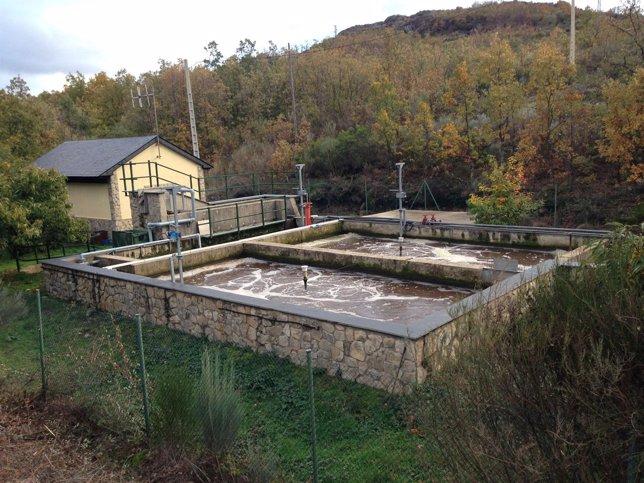 Depuradora en el entorno del Lago de Sanabria