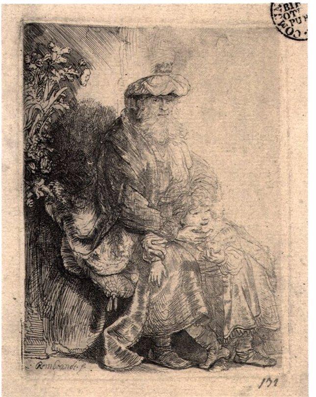 Una de las obras de Rembrandt que se puede ver en Valladolid
