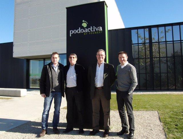 Odrizola visita la sede de Podoactiva