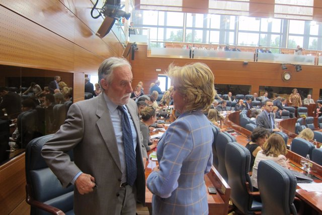 Luis De Velasco Y Aguirre En El Pleno De La Asamblea De Madrid