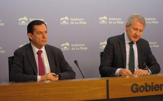 Erro y Del Río, en la rueda de prensa del Consejo de Gobierno