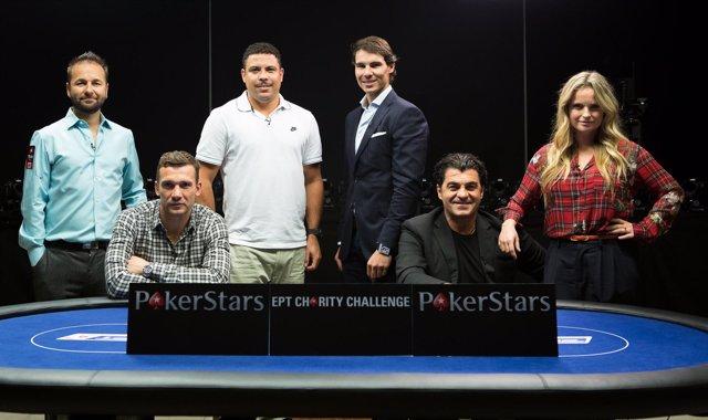 Rafa Nadal y Ronaldo Nazario en el Poker Stars