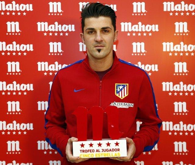 El delantero del Atlético de Madrid David Villa