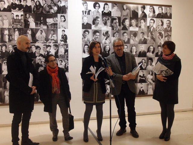 Gamarra, en la apertura de la exposición
