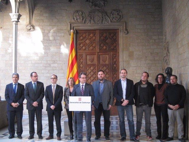 El presidente Artur Mas anuncia la fecha y preguntas de la consulta