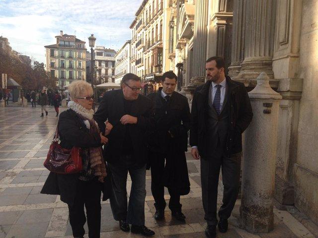 Víctor Sánchez, a su llegada a la Audiencia de Granada
