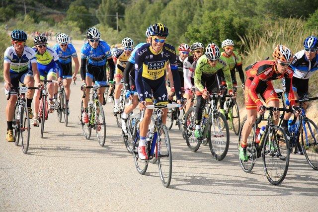 Alberto Contador en su marcha cicloturista
