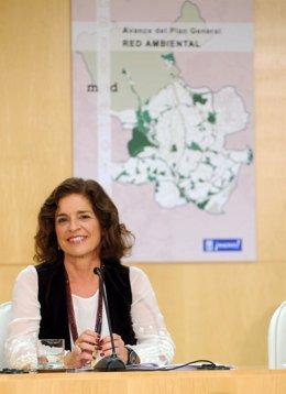 Alcaldesa de Madrid, Ana Botella, en rueda de prensa