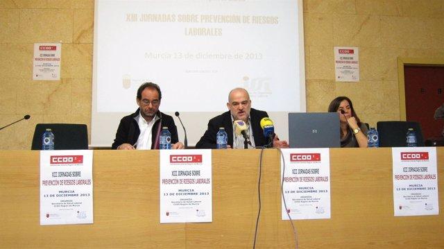 Pedro Jóse Linares y Julio López Pujalte de CCOO
