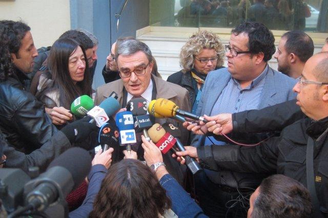 Àngel Ros (Agrupament Socialista) y Joan Ignasi Elena (Avancem)