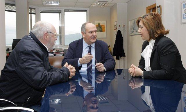 Fernández con alcaldesa Villaescusa