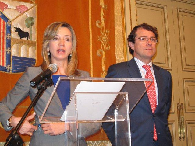 Alicia García (I) Y Fernández Mañueco (D)