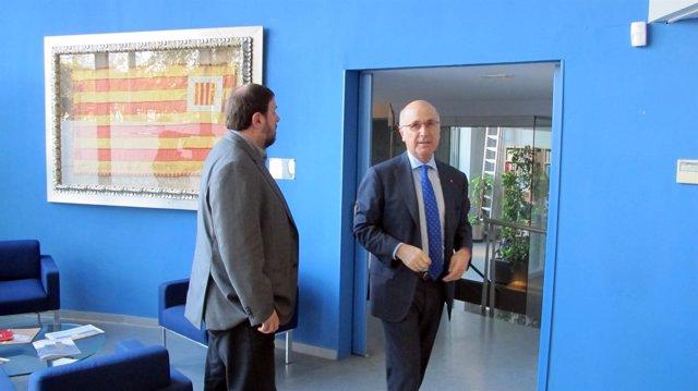 Oriol Junqueras y Josep Antoni Duran