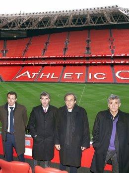 Michel Platini Josu Urrutia Jon Berasategi Ángel María Villar San Mamés Athletic