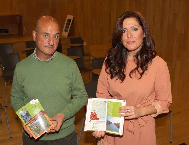 Rafael Flores y Marina Bravo diputación guía itinerarios fluviales