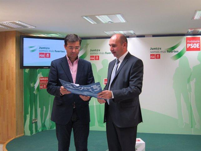 Cristóbal Fernández y Francisco Conejo analizan los presupuestos de Diputación
