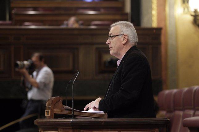Cayo Lara (IU) en el Pleno del Congreso