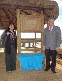 Inauguración de un nuevo observatorio en Marismas del Odiel Atlantic Cooper.