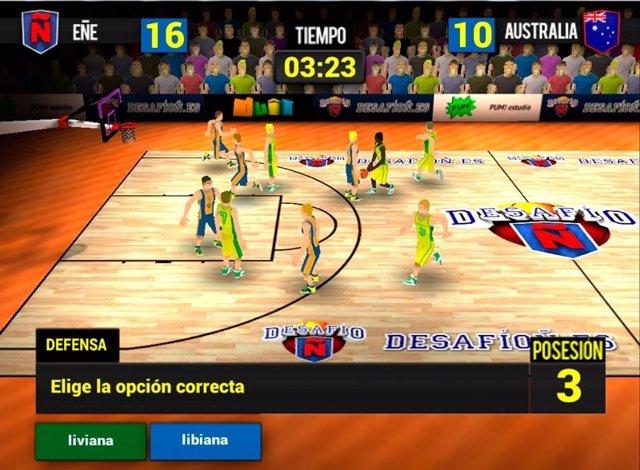 Imagen del videojuego sobre ortografía 'Desafío Ñ'