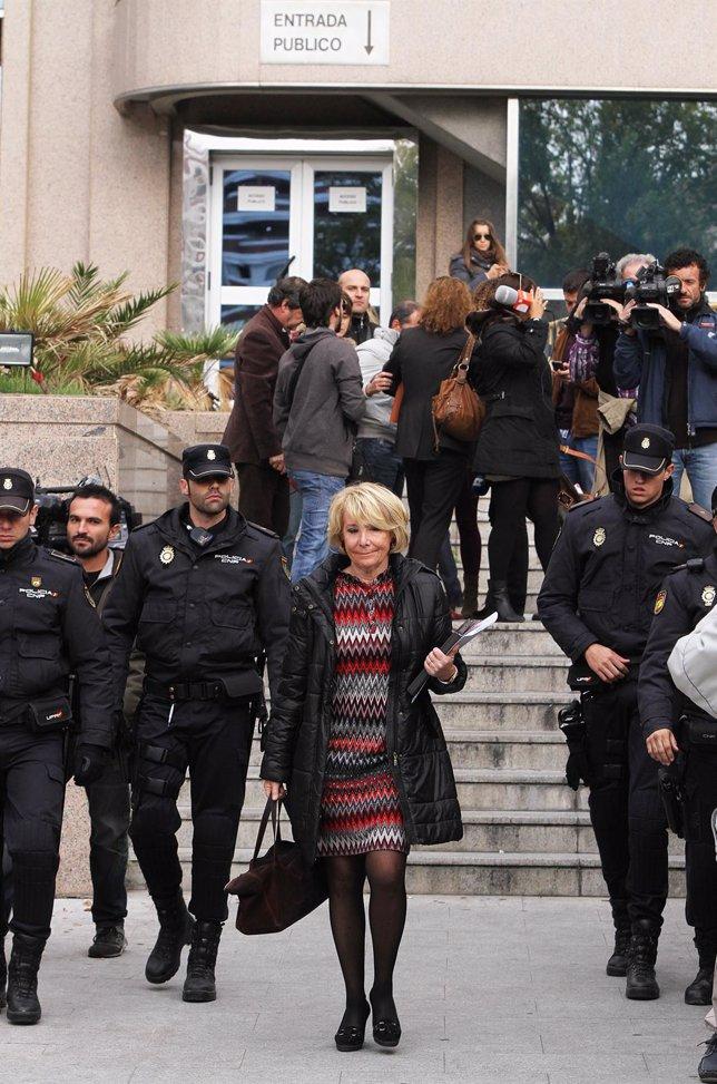 Esperanza Aguirre declara por PSG