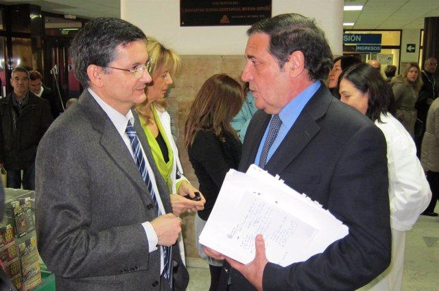 Rogelio G. Sarmiento junto a Sáez Aguado antes del del último Consejo del Ibsal