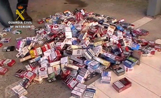 Tabaco intervenido en la 'Operación Fontivero'