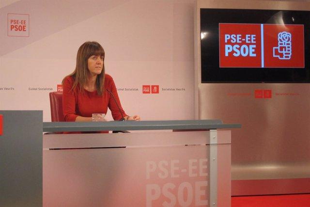 La portavoz del PSE-EE, Idoia Mendia