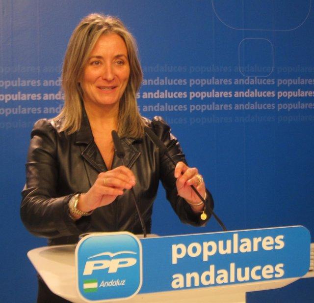 Carolina González Vigo, hoy en rueda de prensa