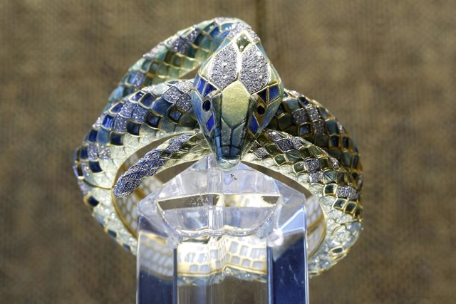 Serpiente de la colección Masriera por el 175 aniversario de Bagués-Masriera