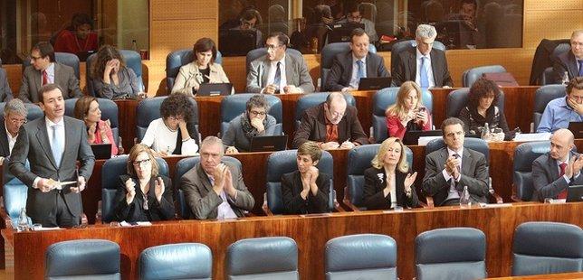 Bancada socialista en la Asamblea de Madrid