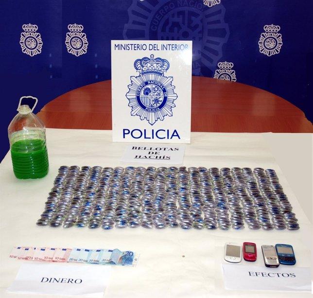 Bellotas incautadas en Huelva.