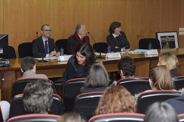 El conselleiro Jesús Vázquez en un acto en A Coruña