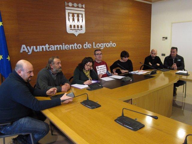 Imagen de la Junta de Personal en la rueda de prensa