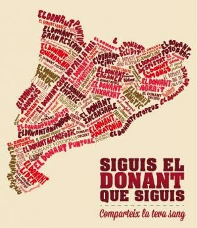 Cartel de la Maratón de Donación de Sangre en Catalunya
