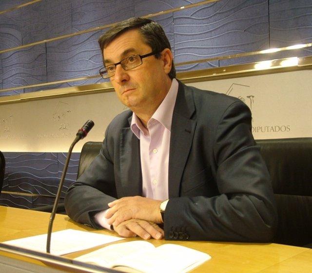 José Luis Centella, diputado de IU y portavoz de Izquierda Plural