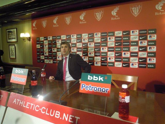 El presidente del Athletic, Josu Urrutia