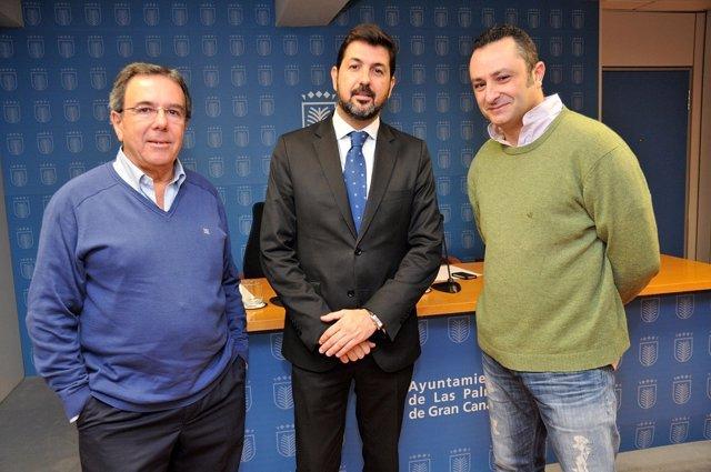 Sergio García-Beltrán, Christian Santana y Víctor Batista