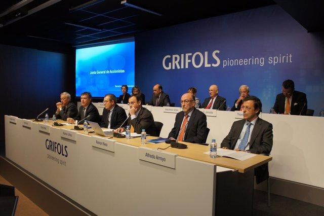 Junta de accionistas de Grifols (diciembre 2013)