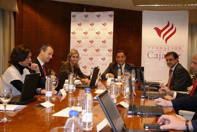Reunión del patronato de la Fundación CajaSur