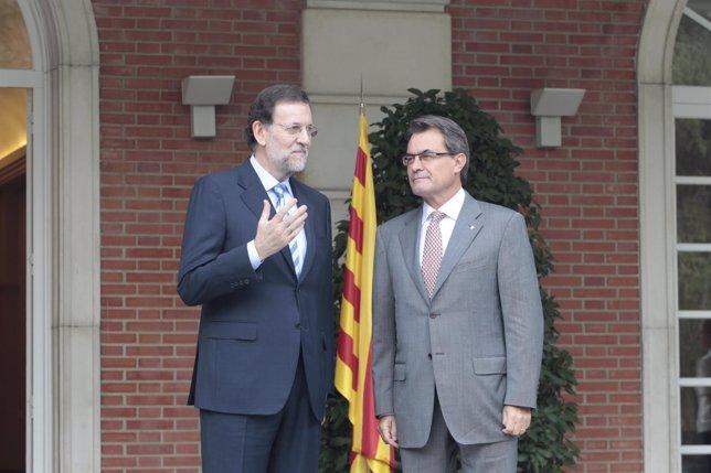 Artur Mas y Mariano Rajoy se reúnen en la Moncloa