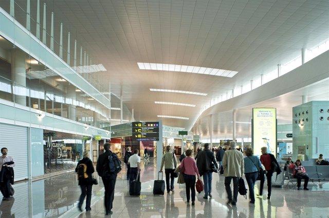 Pasajeros del Aeropuerto de El Prat