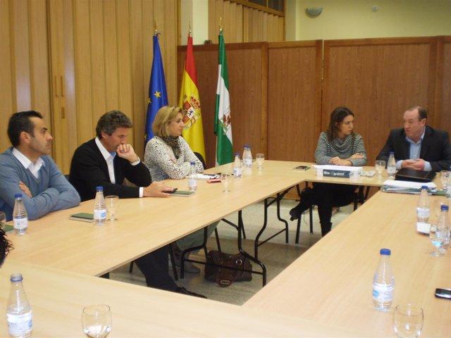 Reunión de los delegados de la Junta con alcaldes y alcaldesas