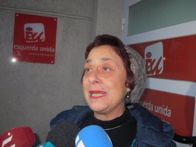 La diputada díscola de EU-IU Carmen Iglesias Sueiro