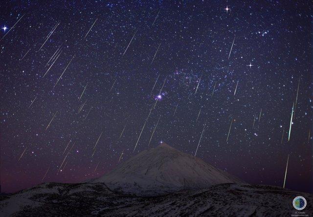 Las Gemínidas sobre el Teide