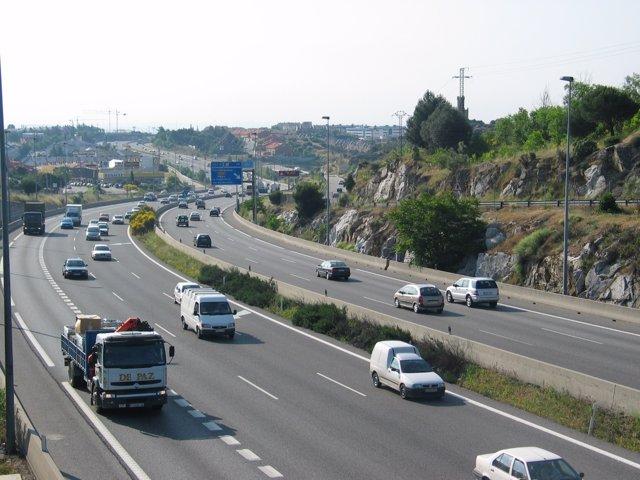Autopista A-6 a su paso por Torrelodones