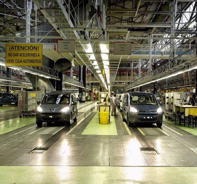 Factoría de peugeot Citroën en Vigo