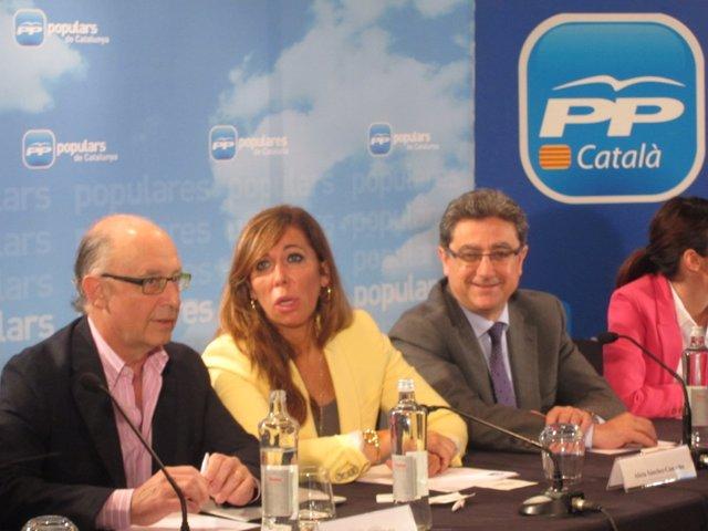 Cristóbal Montoro, Alicia Sánchez-Camacho (Archivo)