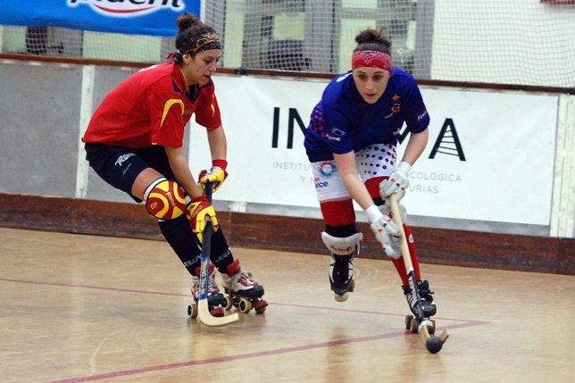 España vence a Francia en el Europeo de Hockey sobre patines femenino