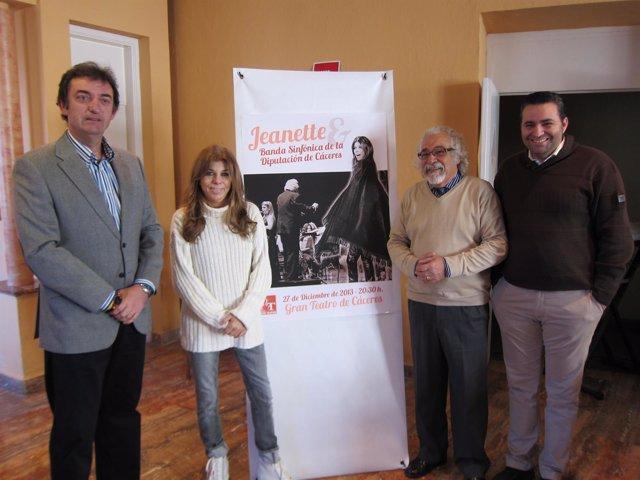 Presentación Del Concierto De Jeanette Y La Banda De La Diputación De Cáceres