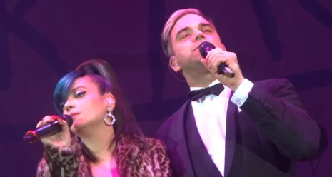 Lily Allen y Robbie Williams